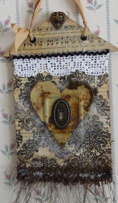 Heart of the Home Wall Hanging featuring by myvintagewhimsies,