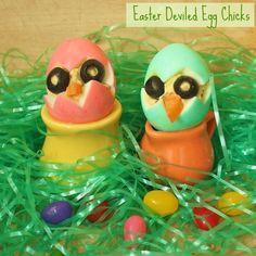 Easter Deviled Egg Chicks