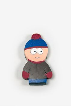 Items similar to South Park Characters - Stan Magnet, Polymer Clay Figure on Etsy South Park Characters, Polymer Clay Figures, Smurfs, I Shop, Magnets, Animation, Clays, Book Covers, Etsy