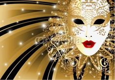 #Beautiful #Venice #Golden #Vintage #Carnival #Mask! #Vector © bluedarkat #28421053 -   http://us.fotolia.com/id/28421053/partner/200929677
