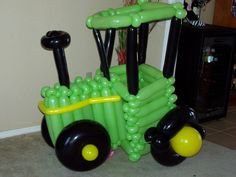 John Deere Tractor made from balloons!