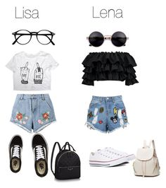 """Lisa or Lena"" by layla07 ❤ liked on Polyvore featuring House of Holland, Boohoo, Vans and Converse"