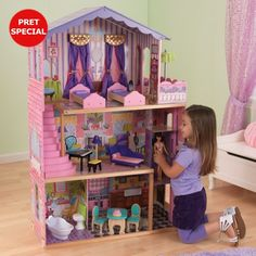 Kidkraft My Dream Mansion.The Kidkraft My Dream Mansion Intricate details and interactive features make Kidraft's KidKraft My Dream Mansion a lovely addition to playtime. Kidkraft My Dream Mansion Dreamhouse Barbie, Barbie Doll House, Barbie Dream House, Barbie Dolls, Dream Doll, Wooden Dollhouse, Wooden Dolls, Dollhouse Dolls, Dollhouse Kits