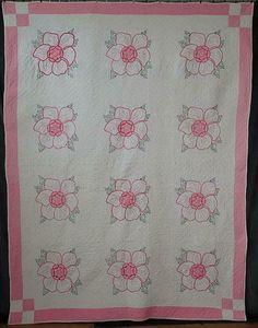 Romantic Cottage Roses! Vintage 40s Embroidered Pink & White Rose QUILT 93x71 | eBay White Roses, Pink White, Embroidered Quilts, Romantic Cottage, Rose Cottage, Modern, Ebay, Vintage, Home Decor