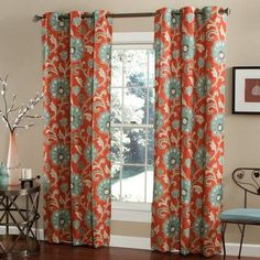 m.style Ankara Curtain Panels Color: Cinnabar