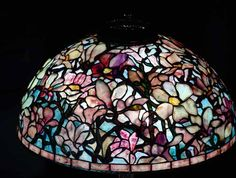 Stained Glass Lamps, Tiffany Glass, Vintage Lamps, Glass Design, Home Lighting, Magnolia, Christmas Bulbs, Restoration, Sparkle