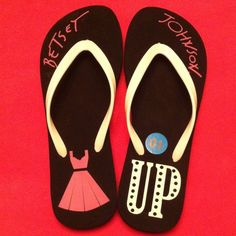 Betsey Johnson Flip Flops Girly & Fun! NWOT! Authentic Betsey Johnson Flip Flops. Black with Pink & White Graphics. White Straps. Black Platform Soles. Man Made Materials. Betsey Johnson Shoes