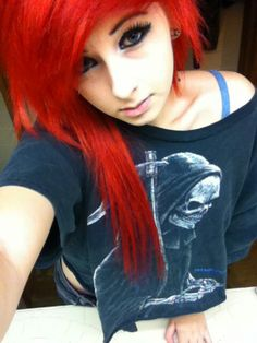 Scene hair: the color I really like it its a really bright red