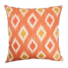 "Add a splash of citrus to your living room or bedroom with this down-filled cotton pillow.  Product: PillowConstruction Material: Cotton cover and down fillColor: MelonFeatures:  Down insert includedHidden zipper closureMade in the USA Dimensions: 18"" x 18""Cleaning and Care: Spot clean"