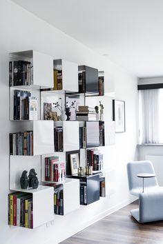 Showcase no 1 bookshelves at home. Photo Tia Borgsmidt