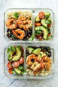 Chipotle Lime Shrimp Bowls recipes | foodiecrush.com #shrimp #ricebowls #healthy #Mexican