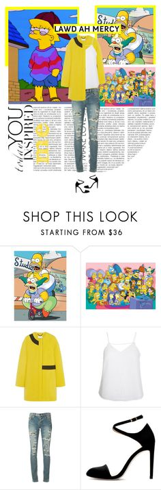 """""""Cool,like Lisa"""" by purincess ❤ liked on Polyvore featuring WALL, Kenzo, Finders Keepers, Yves Saint Laurent, simpson and lisa"""
