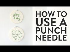 How to Use a Punch Needle (and Make Quick, Easy Embroidered Wall Art!) - YouTube