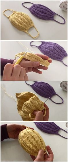 Learn to crochet simple mask - Learn to crochet simple mask - ilove-crochet - Crochet Simple, Free Crochet, Knit Crochet, Easy Things To Crochet, Crochet Toys, Sewing Patterns Free, Knitting Patterns, Crochet Patterns, Free Pattern