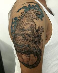 #godzilla #tattoo finished. Thanks Jorge!
