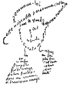 """Sette spade di tristezza (…) Stanno nel mio cuore e la pazzia  Cerca una ragione per la mia disgrazia   Ma come volete che io dimentichi""""  Guillaume Apollinaire, estratto da: La Canzone del Non-amato -  Poesie & [cit.] d'autore"""