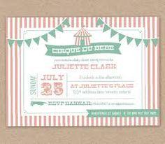 Resultado de imagem para invitation baby carnival
