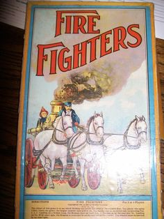 Fire Fighter Game Box from 1909 - made by Milton Bradley via Ruby Lane