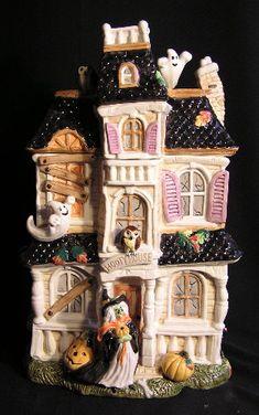 Halloween Haunted House Cookie Jar