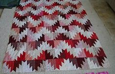 Bonnie Hunter pattern Scrappy Mountain Majesties, in reds - I really like this pattern.  I want to make it in greens.
