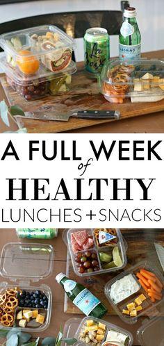 DIY Healthy Lunches + Snacks #mealprep #organize