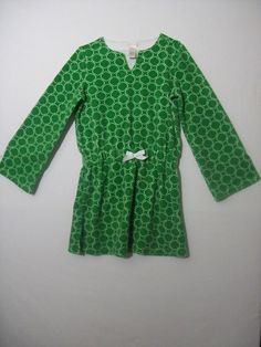 JANIE & JACK KID GIRL SIZE 8 TOP COTTON BLEND GREEN TERRY SPRING LONG #JanieandJack #Everyday