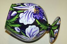 Electronics, Cars, Fashion, Collectibles, Coupons and Glass Votive, Votive Candles, Orchids, Hand Painted, Vase, Inspired, Purple, Wood, Artist