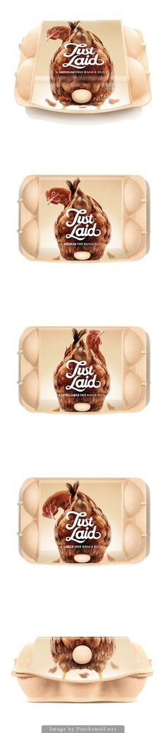 The whole Just Laid packaging (Concept) via Creative Agency: Springetts Brand Design Consultants