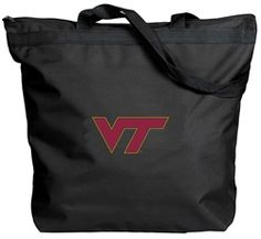 The perfect economical tote for campus or the mall or anywhere you bring your stuff. Has long shoulder length handles plus a zipper closure and interior lined material for easy clean up. Made from durable polyduck fabric. Click the pic to shop today.