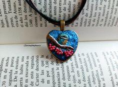 Collar de corazón bronze Collar corazon por Seasonoftheflowers