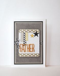 Father Handmade Card on Etsy, $6.50