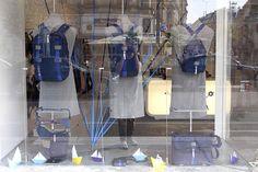 The URBAN TOOL brandstore window decoration with the cool nautic collection. #window #brandstore #summer #nautic #backpack #hipbag #waistbag #urbantool #bags #vienna #visualmerchandising