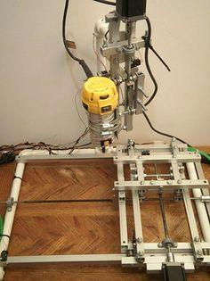 Самодельный алюминиевый 3-х осевой фрезерный станок с ЧПУ