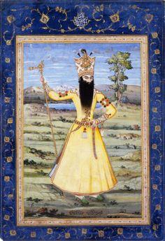 Portrait of Fath Ali Shah, Qajar period