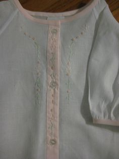 sweet embroidery on daygown