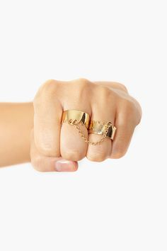 Double Crown Ring in Gold