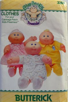 Your place to buy and sell all things handmade Kids Clothes Patterns, Doll Sewing Patterns, Sewing Dolls, Vintage Sewing Patterns, Bitty Baby Clothes, Preemie Clothes, Cabbage Patch Babies, Making Ideas, Baby Dolls