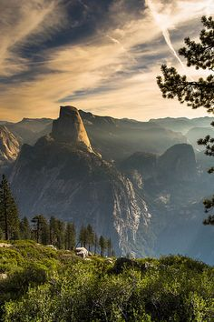 Gorgeous photo of Half Dome in the morning.