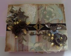 Altered Cigar Box Altered Boxes, Altered Art, Cigar Boxes, Alters, Cigars, My Arts, Paper Crafts, Paper Craft Work, Cigar