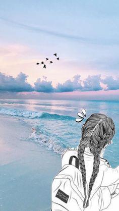 Pin by tim weaver on beach wallpaper wallpaper backgrounds. Tumblr Wallpaper, Ocean Wallpaper, Nature Wallpaper, Iphone Wallpaper Summer, Blue Wallpaper Phone, Trendy Wallpaper, Amazing Wallpaper Iphone, Wallpaper Quotes, Vintage Wallpaper