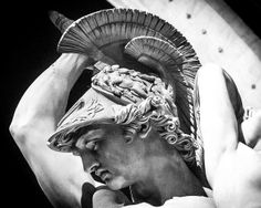 The head of Achilles of the Rape of Polixena by Pio Fedi Loggia dei Lanzi, Florence. Ancient Greek Sculpture, Greek Statues, Ancient Art, Roman Sculpture, Sculpture Art, Greek Mythology Tattoos, Anatomy Sculpture, Statue Tattoo, Greek Art