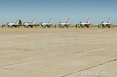 Close-up of F-16 american military airplane formation at ground after Thunder over The Black Sea – Constanta Air Show 2011, Romania, Mihail Kogalniceanu air base. June 8, 2011.