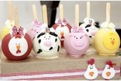 barnyard cake pops