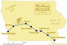 Ragbrai 2013 Map | RAGBRAI 2013 route EAT, RIDE, REPEAT!