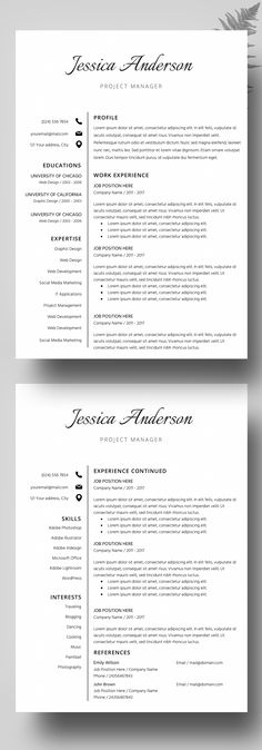 Resume Template, CV Template for MS Word, CV Template, Cover - ms word cover letter template