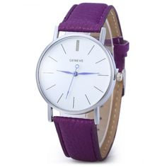 Geneva Women Men Blue Pin Leather Belt Quartz Watch with Contrast Color Decorative Sub-dial #>=#>=#>=#>=#> Click on the pin to check out discount price, color, size, shipping, etc. Save and like it!