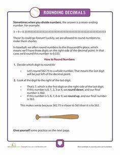 math worksheet : rounding decimals rounding and decimal on pinterest : Rounding Decimals Worksheet 5th Grade
