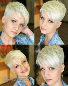 Long pixie hairstyles are a beautiful way to wear short hair. Here we share the best hair styles and how these styles work. Pixie Haircut For Thick Hair, Haircut For Older Women, Short Pixie Haircuts, Cute Hairstyles For Short Hair, Short Hair Cuts For Women, Pixie Hairstyles, Short Hair Styles, Hairstyles 2018, Super Short Hair