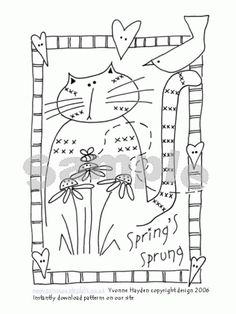 Spring's Sprung Cat Pattern