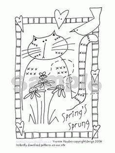 Spring's Sprung Cat Pattern